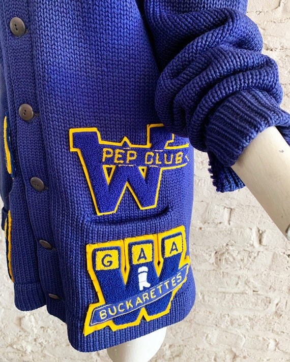 Vintage 50s Bradley Knitwear wool varsity letterm… - image 8