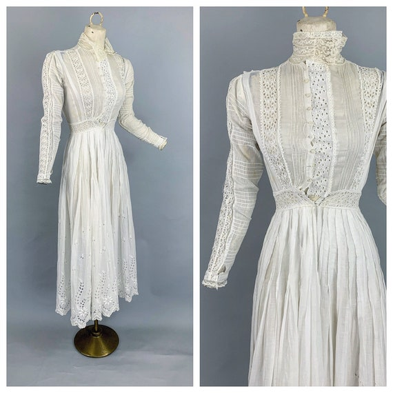 Antique early 1900s eyelet gown | Victorian Edward