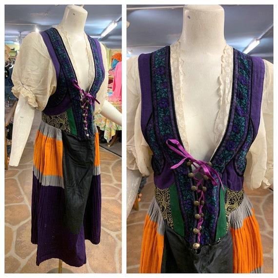 Antique Tyrolean folk dress | Vintage 1930s 1940s