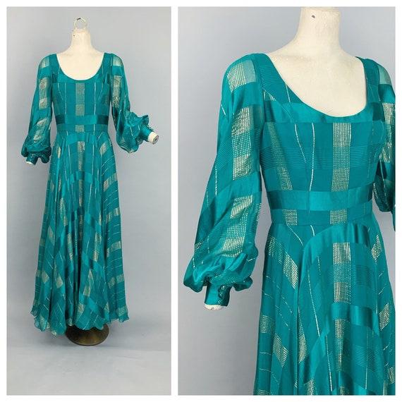 Vintage 70s Ruben Panis RARE silk gown / 1970s Rub