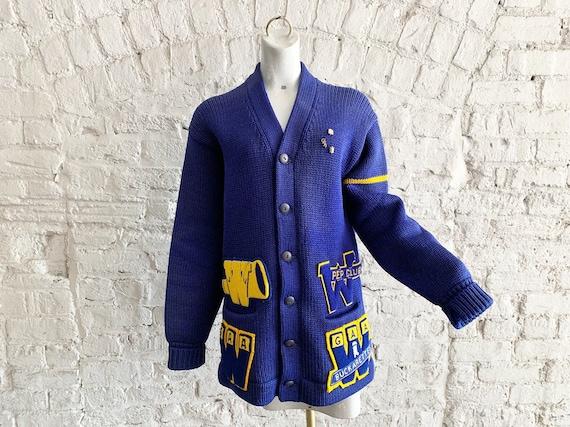Vintage 50s Bradley Knitwear wool varsity letterm… - image 1