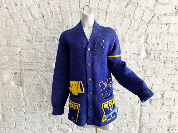 Vintage 50s Bradley Knitwear wool varsity letterma