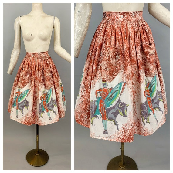 Vintage 50s Mexican circle skirt | 1950s Mexican c