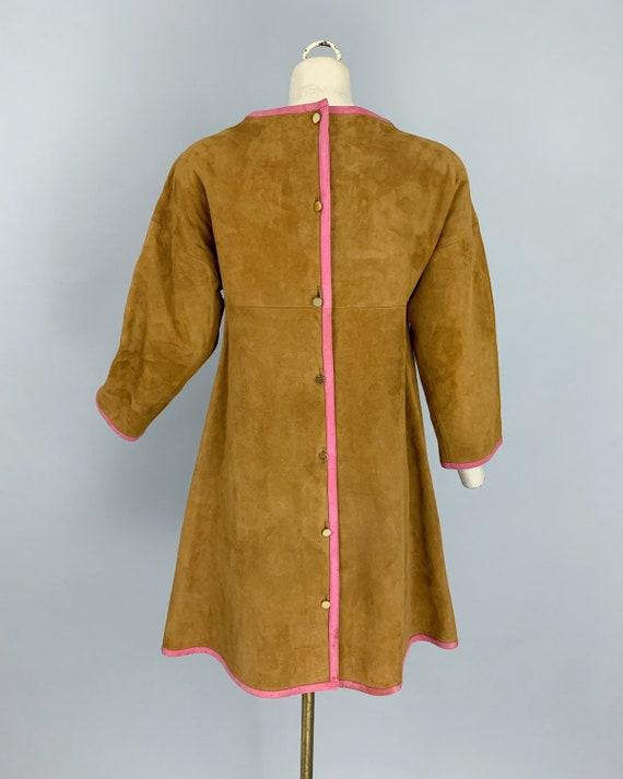 Vintage 60s Bonnie Cashin Sills suede dress | 196… - image 7