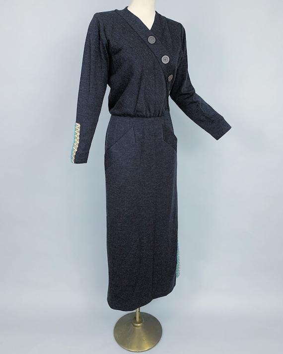 Vintage Yves Saint Laurent RIVE GAUCHE wool dress… - image 5