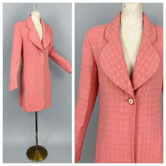 Vintage 80s Karl Lagerfeld wool coat | 1980s Karl