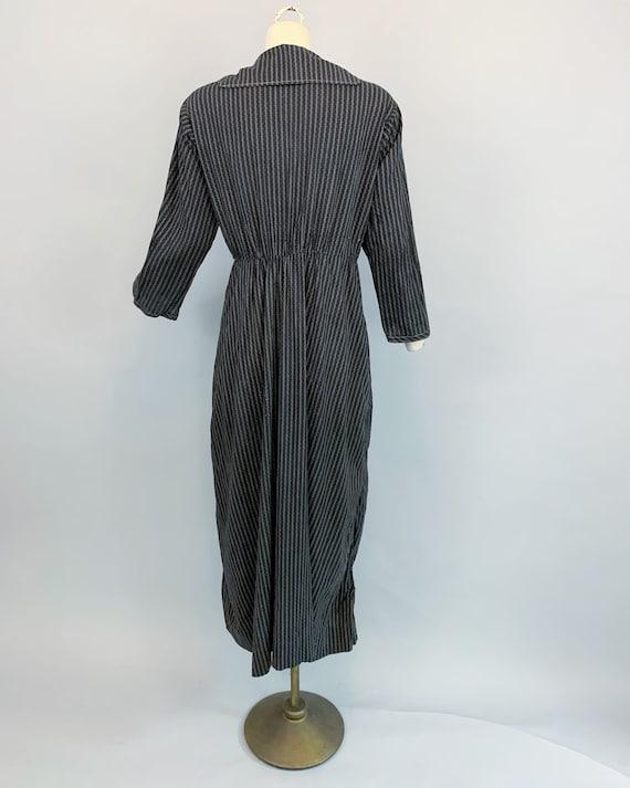 Antique 1900s 1910s calico work dress   Victorian… - image 8