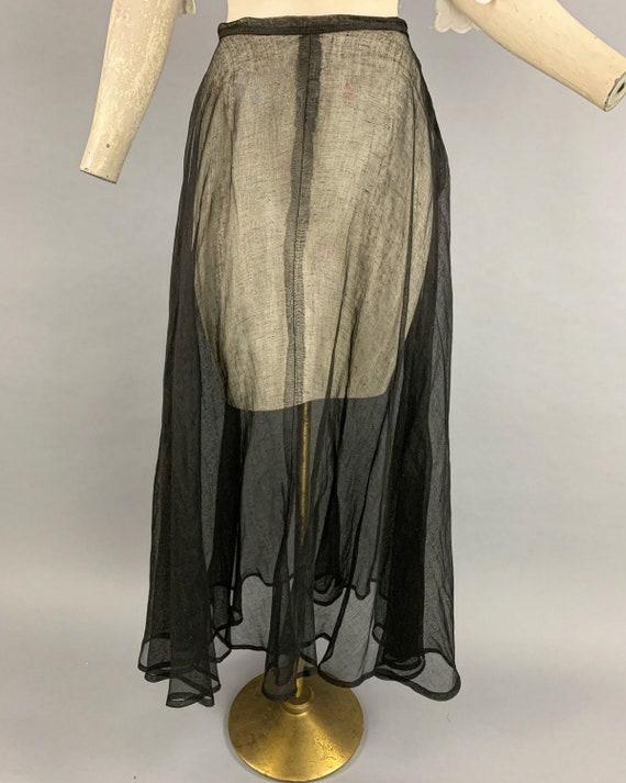 Antique Edwardian tulle skirt | Vintage 1900s 191… - image 4