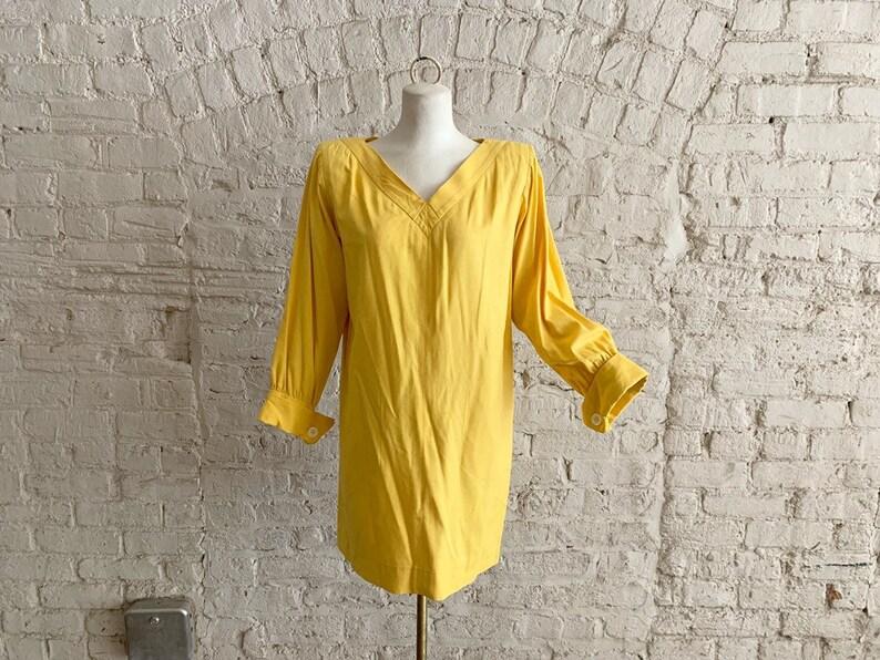 61563e6270d Vintage 70s 80s Yves Saint Laurent RIVE GAUCHE marigold raw | Etsy
