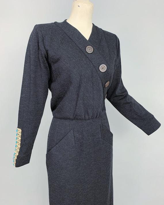 Vintage Yves Saint Laurent RIVE GAUCHE wool dress… - image 6