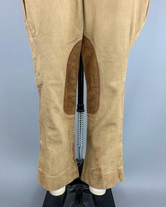 Vintage 40s khaki riding jodphurs   1930s 1940s l… - image 4