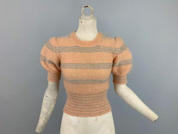 Vintage Joseph Magnin puff sleeve sweater | 1970s
