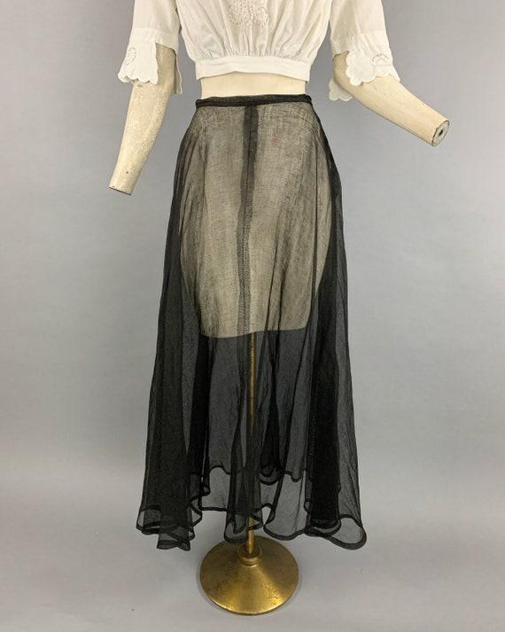 Antique Edwardian tulle skirt | Vintage 1900s 191… - image 3