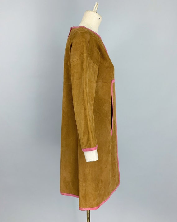 Vintage 60s Bonnie Cashin Sills suede dress | 196… - image 6