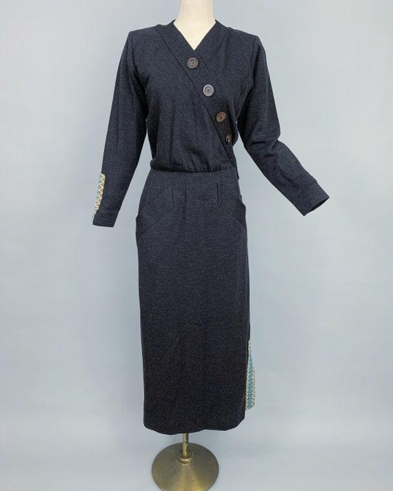 Vintage Yves Saint Laurent RIVE GAUCHE wool dress… - image 2