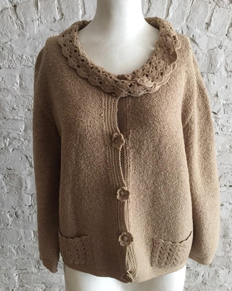 Vintage 20s 30s The Bon Marche boucle knit cardigan sweater