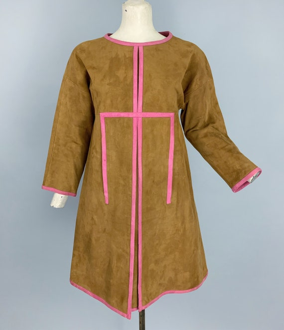 Vintage 60s Bonnie Cashin Sills suede dress | 196… - image 3
