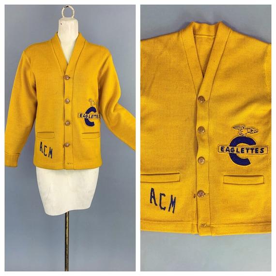 Vintage Eaglettes letterman sweater | 1930s 1940s