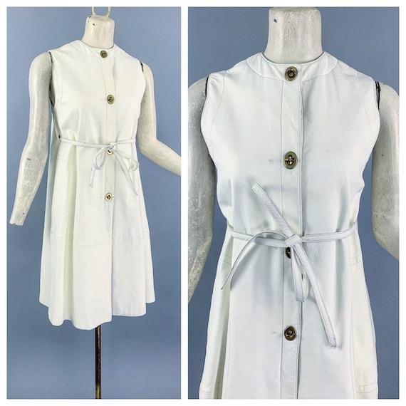 Vintage 60s Bonnie Cashin Sills leather dress   1… - image 1