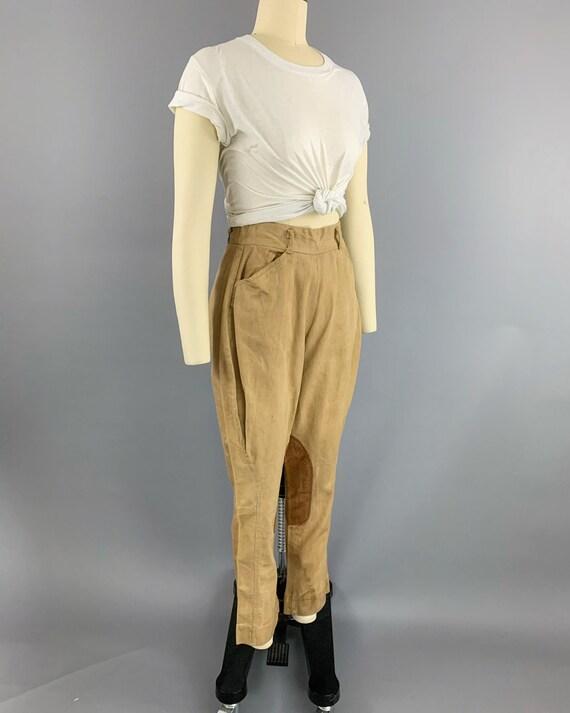 Vintage 40s khaki riding jodphurs   1930s 1940s l… - image 6