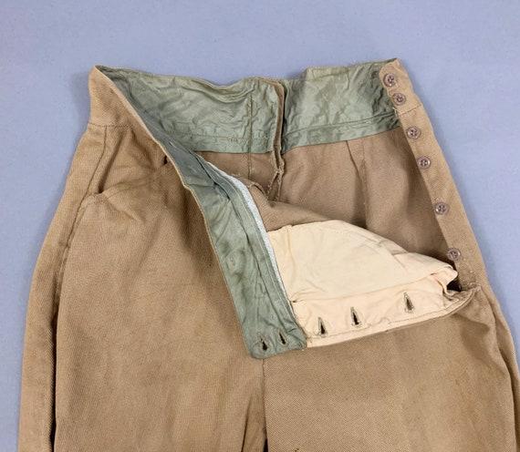 Vintage 40s khaki riding jodphurs   1930s 1940s l… - image 10