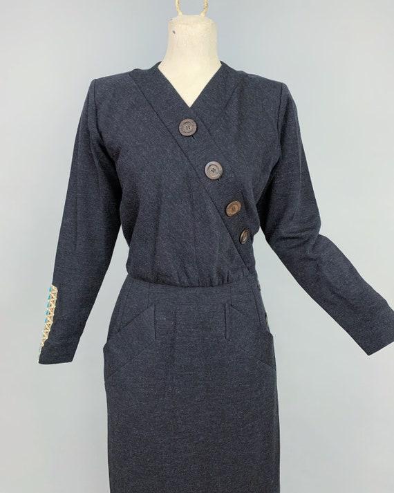 Vintage Yves Saint Laurent RIVE GAUCHE wool dress… - image 4