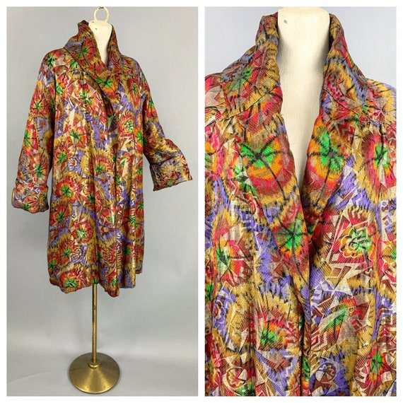 1920s Lamé opera coat   Vintage 20s RARE technicol