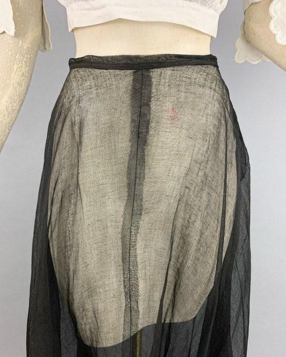 Antique Edwardian tulle skirt | Vintage 1900s 191… - image 10