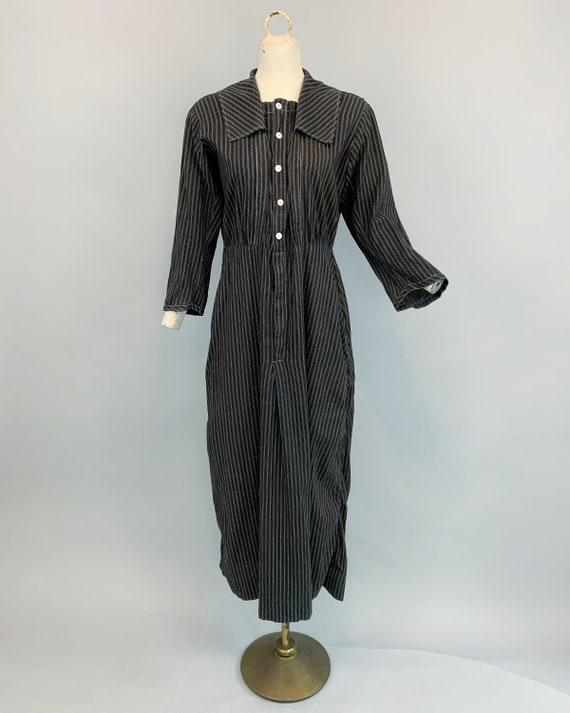 Antique 1900s 1910s calico work dress   Victorian… - image 2