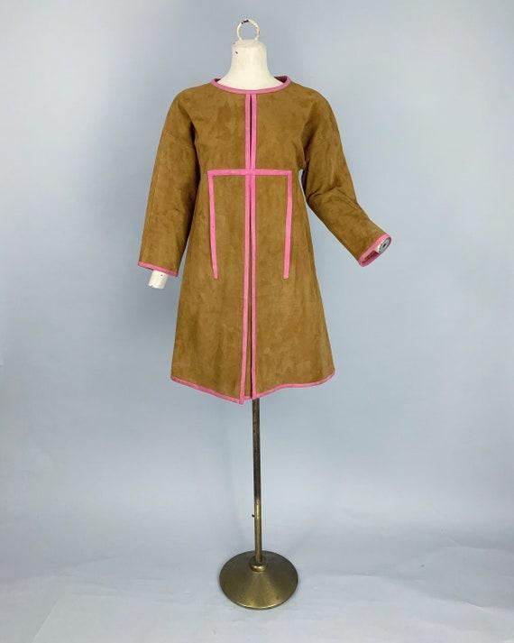 Vintage 60s Bonnie Cashin Sills suede dress | 1960