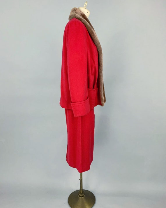 Vintage 30s ladies skirt suit with mouton collar … - image 6