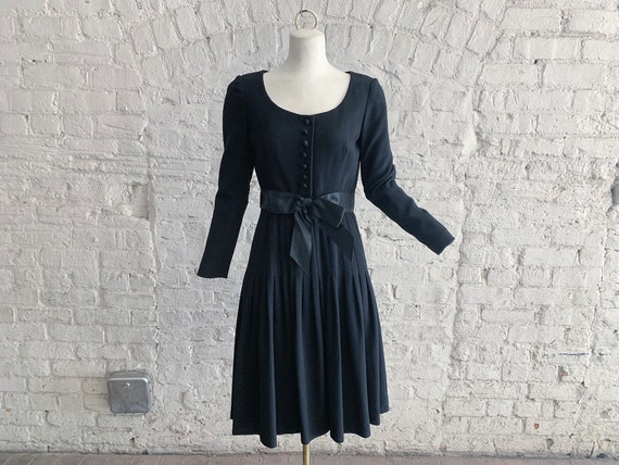 Vintage 60s Adele Simpson wool dress | 1960s Adele