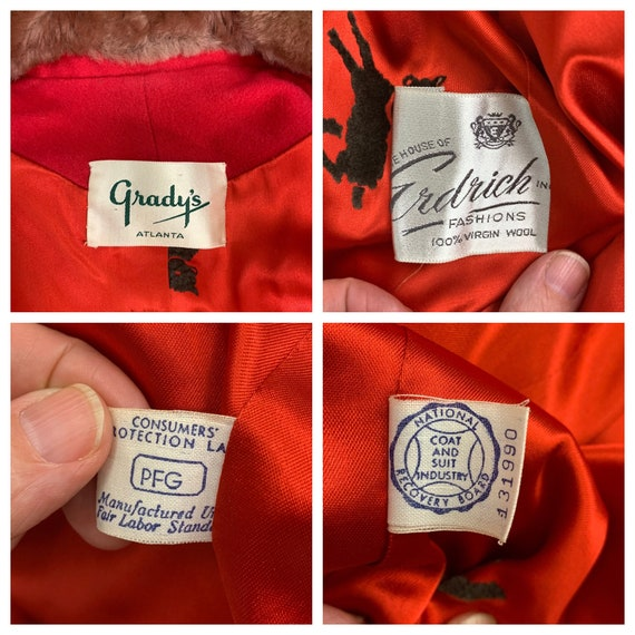 Vintage 30s ladies skirt suit with mouton collar … - image 10