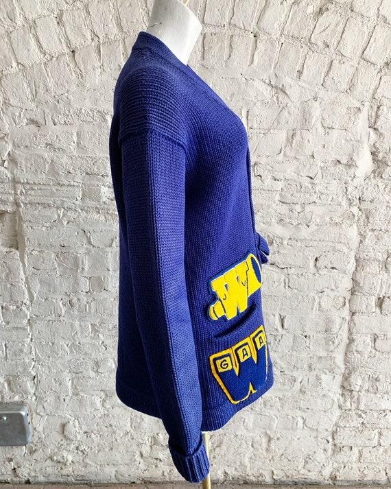 Vintage 50s Bradley Knitwear wool varsity letterm… - image 4