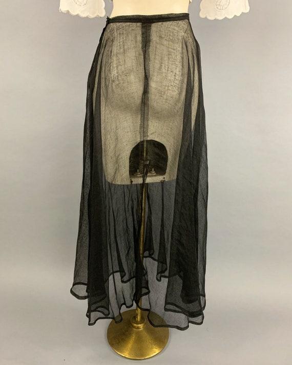 Antique Edwardian tulle skirt | Vintage 1900s 191… - image 9