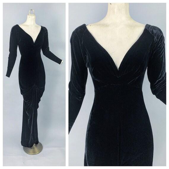 1930s RARE Joset Walker velvet gown | Vintage 30s
