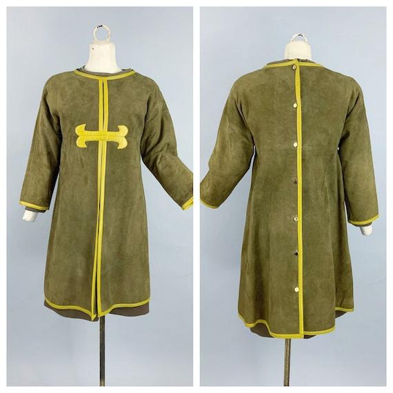 Vintage 60s Bonnie Cashin Sills suede tunic & knit