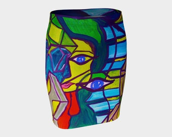 ArtzOnMe Fitted Skirt