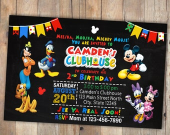 Mickey Mouse Clubhouse birthday invitation, Mickey Mouse, Mickey Mouse invitation, Mickey Mouse invitations, Mickey Mouse birthday, birthday