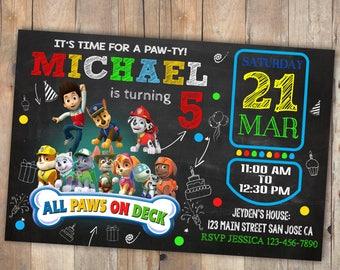 Paw patrol birthday invitation, paw patrol, paw patrol invitation, paw patrol invitations, paw patrol birthday, paw patrol invite, birthday