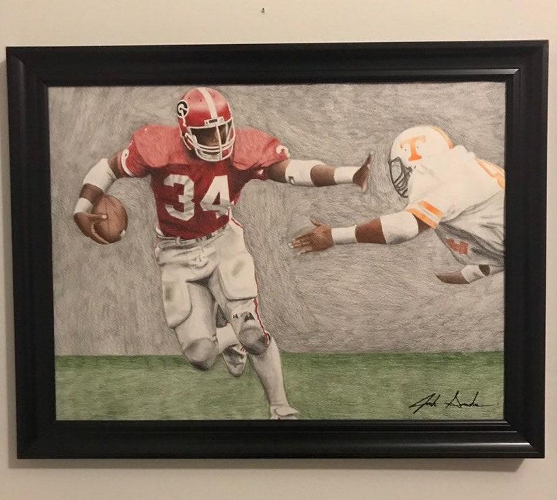 Herschel Walker Georgia Bulldog Drawing