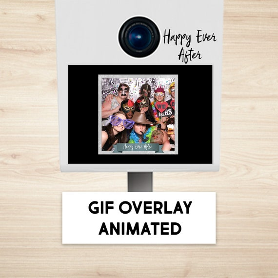 Items similar to Overlay Gif Animated /Print, Photo Booth