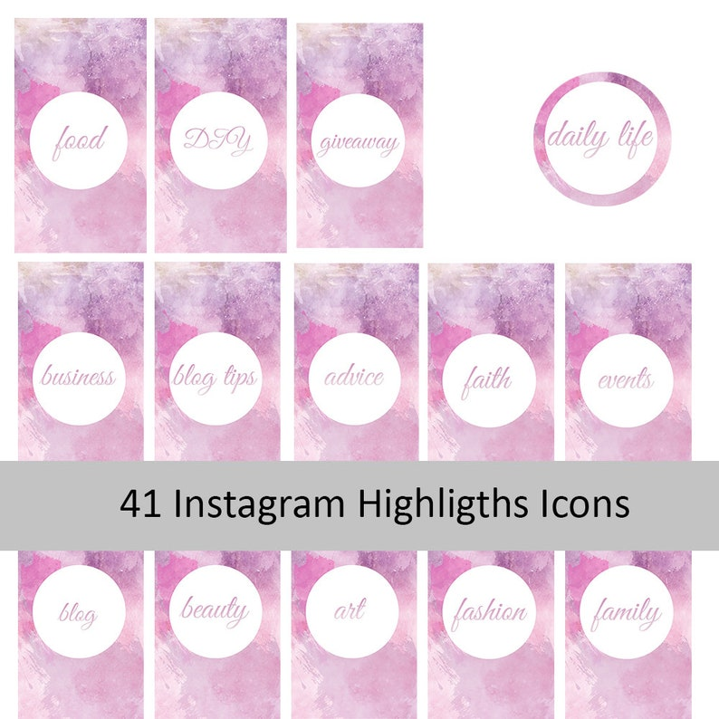 Instagram Story Highlights  Instragram Icons  Social Media Text Highlights    Stories Icons