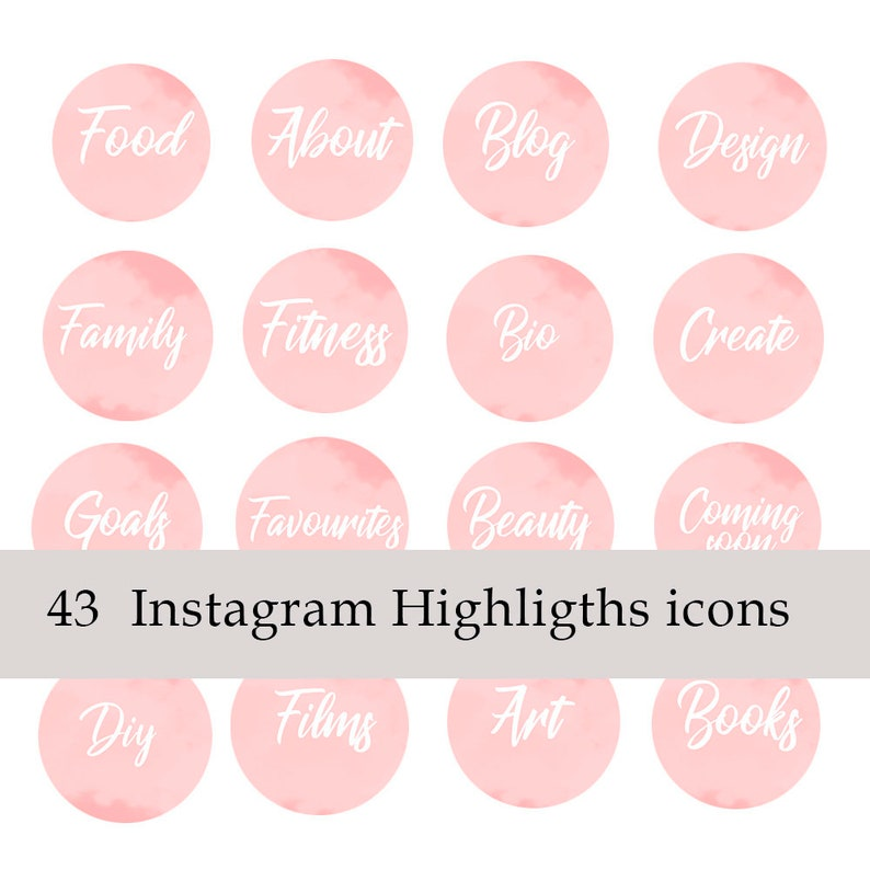 Instagram Icons Highlights  Story Cover Template Hand Lettered  Instagram  template