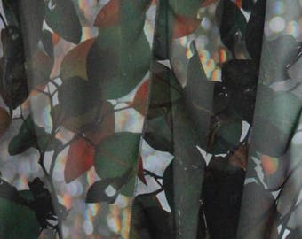 Rainbow Leaves Scarf - Circle/Infinity style by Chrisea Designs