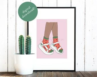 da13a90feba69 Teva Sandals Digital Illustration