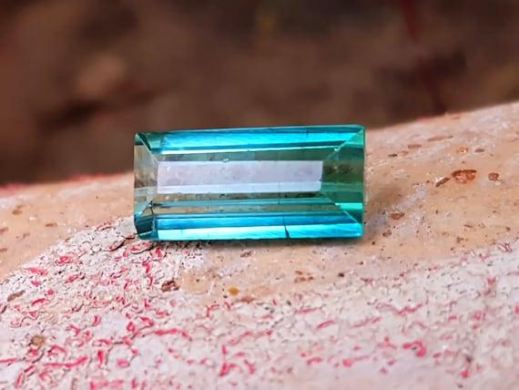 2.30 Cts Natural Beautiful Blueish Green Transparent Tourmaline Gemstones @ Afghanistan