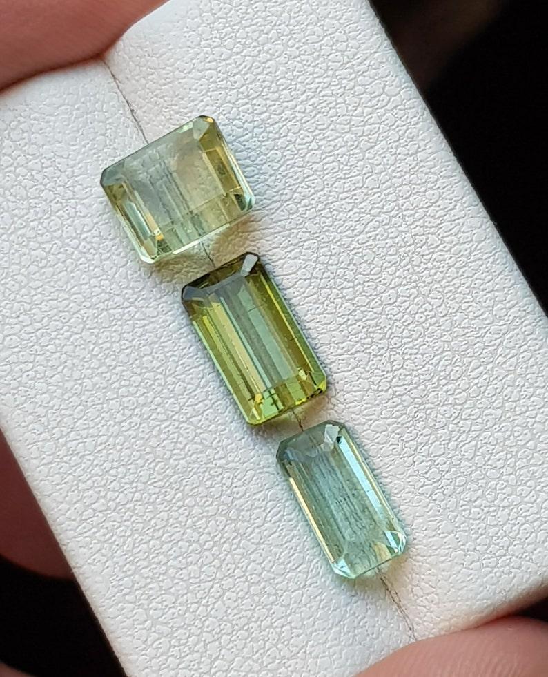 4.90 Cts Natural Light Green /& Blue Transparent Tourmaline Gemstones @ Africa