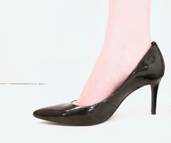 BCBG Black Patent Leather High Heeled