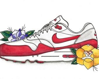 Nike Watercolor| Watercolor Painting| Original Art| Painting| Nike Shoes